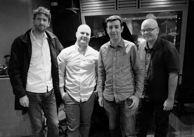 Rob Barron Quartet in the studio 2015