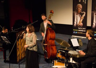 With Anita Wardell Quartet at Herts Jazz 2015