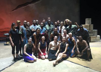 With Ladysmith Black Mambazo and dancers 2015