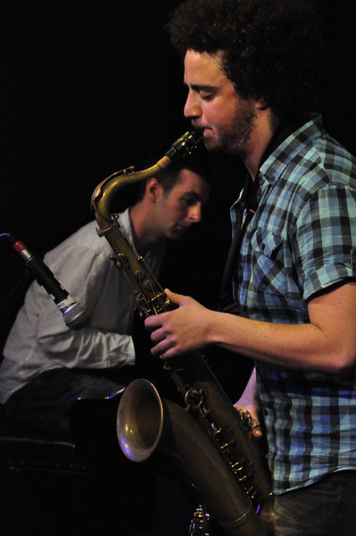 Rob and saxophonist Adam Waldman