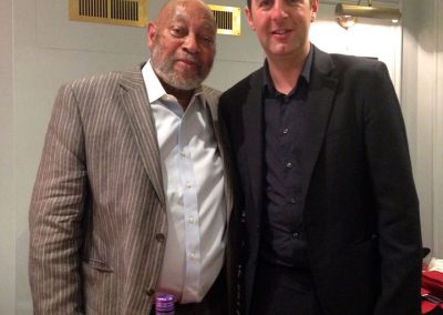 Rob with Kenny Barron backstage at Ronnie Scott's 2015