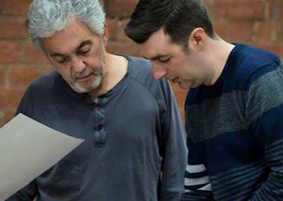 Rob with Steve Gadd in rehearsal at Bell Studios 2015